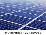 close up of photovoltaic power... | Shutterstock . vector #224509063
