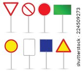 blank traffic sign set two... | Shutterstock .eps vector #224509273