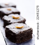 brownie - stock photo