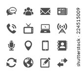 communication icon set  vector... | Shutterstock .eps vector #224515009