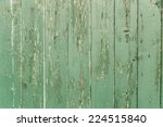 Painted Wood Green Old Aged...
