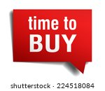 time to buy red 3d realistic...   Shutterstock .eps vector #224518084