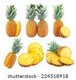 set of 6 pineapple images | Shutterstock . vector #224518918