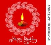 happy diwali vector...   Shutterstock .eps vector #224524039