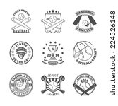baseball college league... | Shutterstock .eps vector #224526148