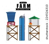 water tanks   vector...