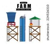 water tanks   vector... | Shutterstock .eps vector #224526310