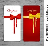 gift coupon with gift bows and... | Shutterstock .eps vector #224526730