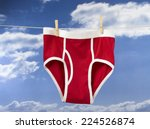 underwear hanging on a washing... | Shutterstock . vector #224526874