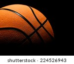 single basketball on a black... | Shutterstock . vector #224526943