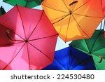 umbrella art hanging in street... | Shutterstock . vector #224530480