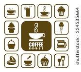 coffee shop vector icons. | Shutterstock .eps vector #224535664