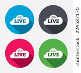 live sign icon. on air stream... | Shutterstock .eps vector #224537170