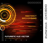 futuristic interface  hud  ...   Shutterstock .eps vector #224538043