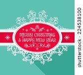 merry christmas frame template  ... | Shutterstock .eps vector #224538100