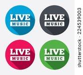 live music sign icon. karaoke... | Shutterstock .eps vector #224539003