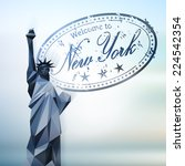 statue of liberty. abstract... | Shutterstock .eps vector #224542354