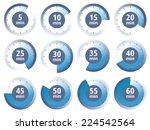 vector blue set of timers | Shutterstock .eps vector #224542564