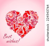 valentines day card with... | Shutterstock .eps vector #224543764