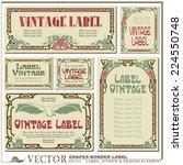 border style labels on... | Shutterstock .eps vector #224550748