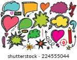 comic speech bubbles and arrow... | Shutterstock .eps vector #224555044