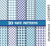 elegant seamless patterns with... | Shutterstock .eps vector #224555893