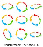 circular  cyclic colorful arrows | Shutterstock .eps vector #224556418