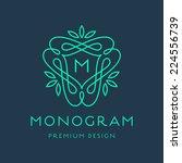 simple and graceful monogram... | Shutterstock .eps vector #224556739