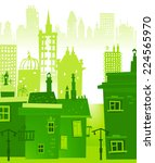 city background made of... | Shutterstock .eps vector #224565970