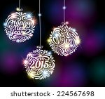 happy new year 2015 sparkling...