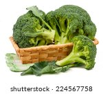 broccoli isolated on white... | Shutterstock . vector #224567758