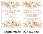set of floral wedding... | Shutterstock .eps vector #224569420