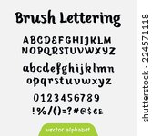 """brush lettering"" retro vector... 