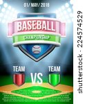 background for posters baseball ... | Shutterstock .eps vector #224574529