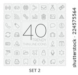 40 thin line icons. set 2.