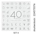 40 thin line icons. set 4.