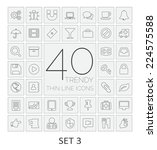 40 thin line icons. set 3.