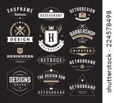retro vintage insignias or... | Shutterstock .eps vector #224578498
