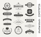 retro vintage insignias or... | Shutterstock .eps vector #224578726
