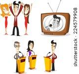 game show host illustrations... | Shutterstock .eps vector #224579908