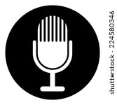microphone symbol button on...   Shutterstock .eps vector #224580346