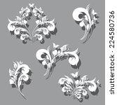 art deco swirls | Shutterstock .eps vector #224580736
