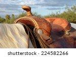 Western Saddle On A Palomino...