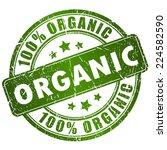 organic vector stamp | Shutterstock .eps vector #224582590