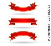 red banners set   Shutterstock .eps vector #224583718