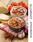 homemade chilli con carne  bio... | Shutterstock . vector #224585770