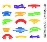 vector colorful ribons set ... | Shutterstock .eps vector #224585860