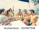 People On A Yacht   Group Of...