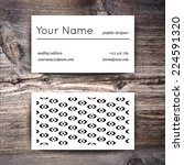 business card template with... | Shutterstock .eps vector #224591320