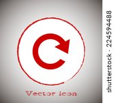 red icon on a gray background. ...